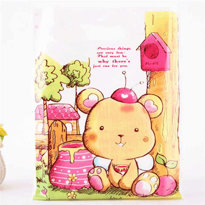 10 шт. 15x20 см Подарочная упаковка Сумки Полиэтиленовые пакеты ручки одежда хозяйственная Подарочная сумка Детские ювелирные изделия Свадебная вечеринка поставки посылка сумка