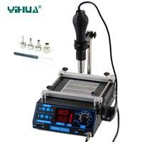 853AA BGA stazione di rilavorazione YIHUA LCD Elettronico Regolabile Calore Pistola Ad Aria Calda PCB preriscaldamento e IR preriscaldamento stazione di rilavorazione stazioni