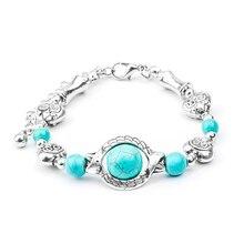 57850444a924 Compra womens bracelets blue heart stone y disfruta del envío ...