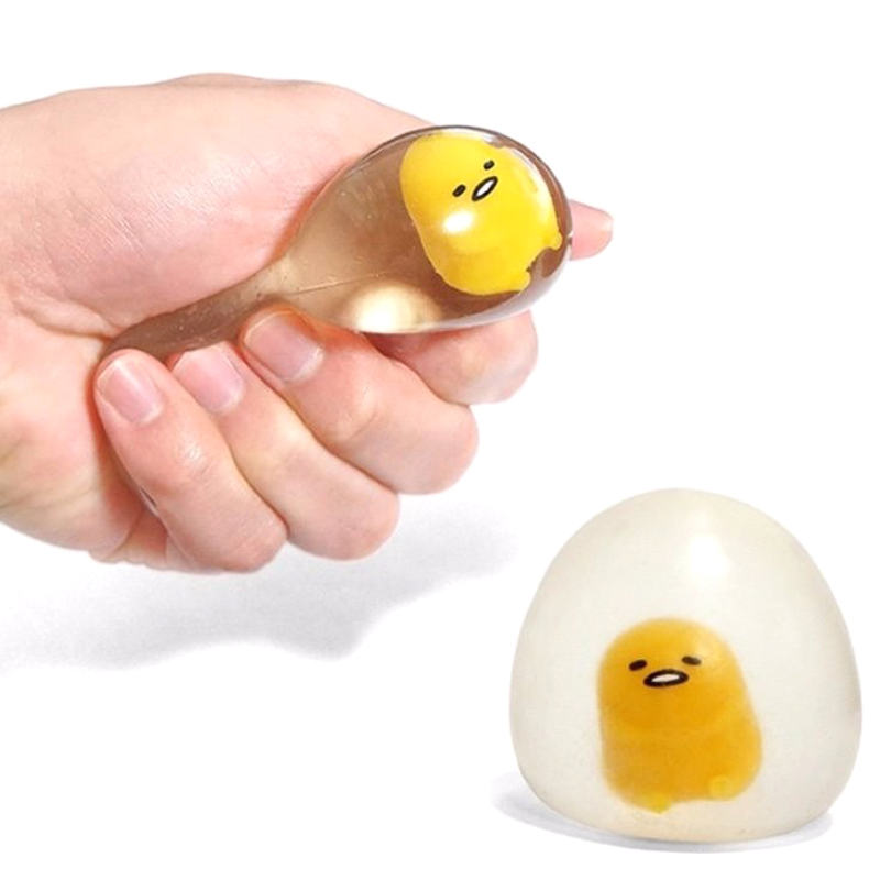 Lazy Egg Squeeze Toys Anti Stress Venting Ball Fun Squeeze Squishy Stress Reliever Kids Adult Gift Lazy Egg Yolk Stress Reliever