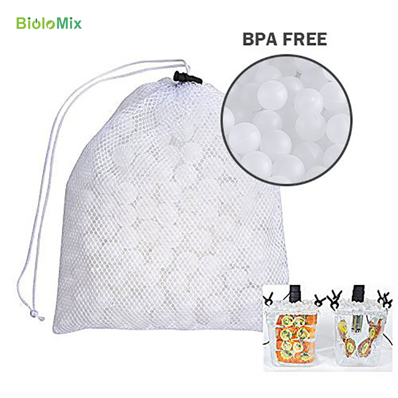 Sous Vide Cooking Balls BPA Free 20mm 200 Balls With Mesh Drying Bag For Immersion Cooker Water Bath Cooking Sous Vide Container