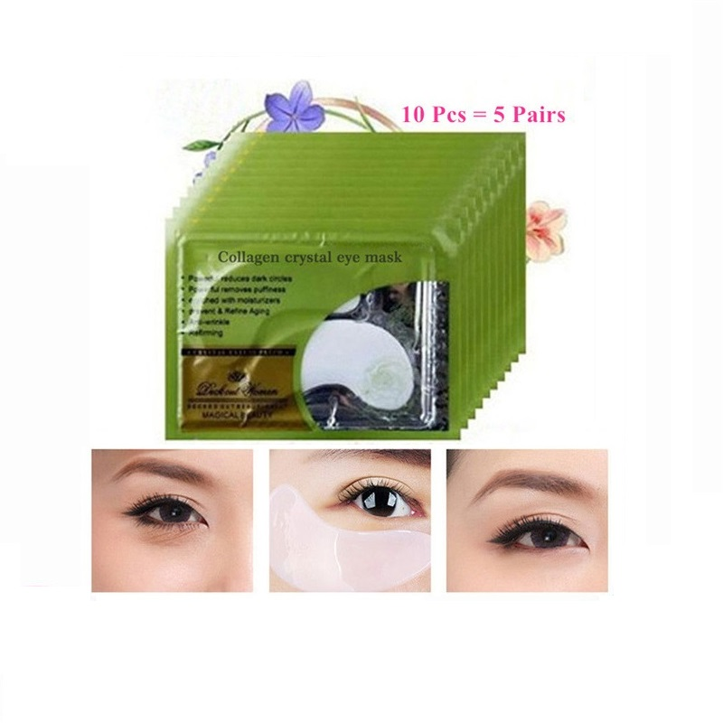 10Pcs Beauty Crystal Collagen Deck Out Women Patches For Eye Remove Black Eye Mask Skin Care Korean Cosmetics