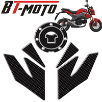 For HONDA GROM MSX125SF Carbon Fiber Gas Fuel Oil Tank Pad protector Decals Sticker Gas Knee Grip Traction Side sticker