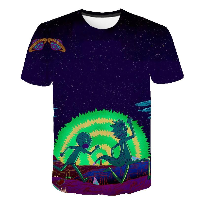 2019 summer Fashion t-shirt Cartoon Rick and Morty 3d Print Men/women T shirts Hip hop Tee shirts