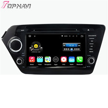 Top Quad Core Android 5.1.1 Car DVD Stereo For KIA K2 (2011-2012) With Multimedia GPS Radio Free Map Wifi BT Free Shipping