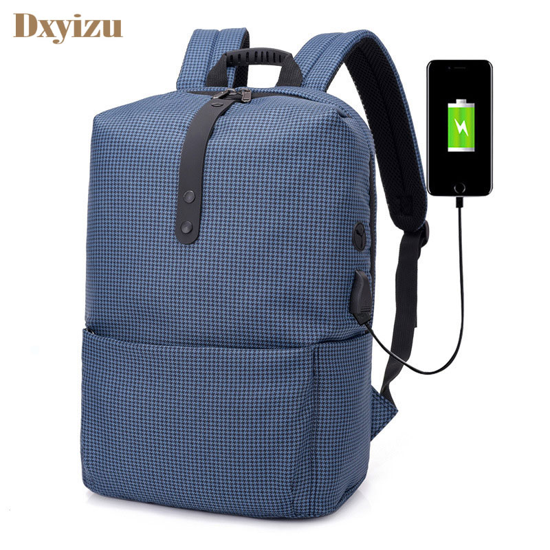 Large Capacity Lightweight Men Casual Backpack Charging Fashion Korean Leisure College Student Travel Bags Computer Backpack fashion hiking leisure men backpack