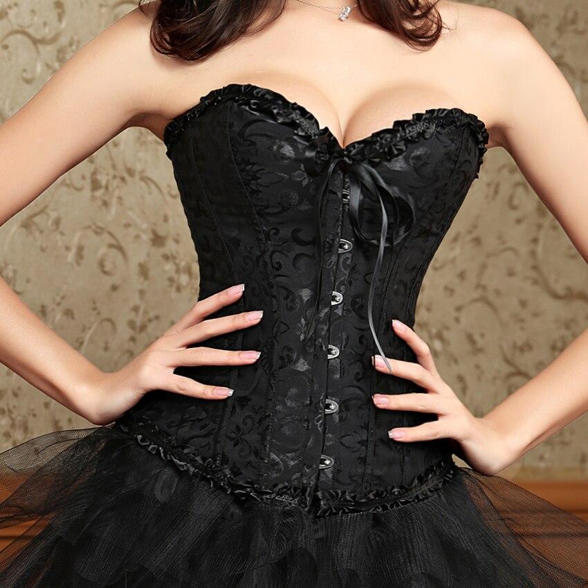 6XL Sexy grande taille femme corselet steampunk taille formateur corsets Corset dentelle surbuste noir blanc rouge shapers corps lingerie