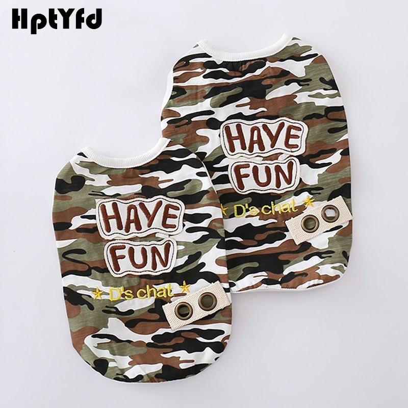 Módní Camouflage Design Pet Dog Oblečení pro psy Vesta Cat Cat tričko Soft bavlněné letní psí košile Pet Oblečení pro malé psy S-XXXL