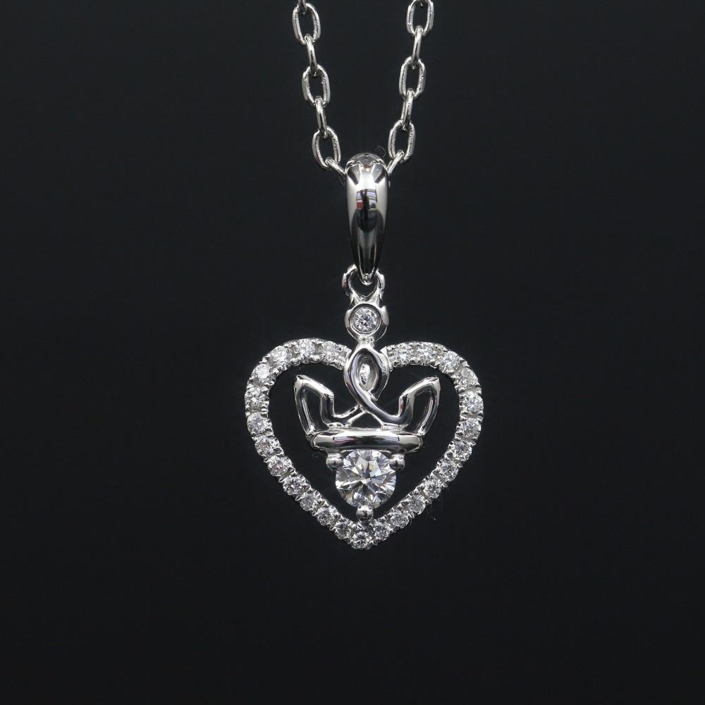 LASAMERO Halo 0.1CT 18k Gold Round Cut Square Center Pave Set Natural Diamond Pendant Necklace Chain Women Fine Jewelry