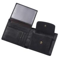 Мужской кошелек RFID Блокировка 100% натуральная кожаный тройной бумажник бизнес короткий кошелек