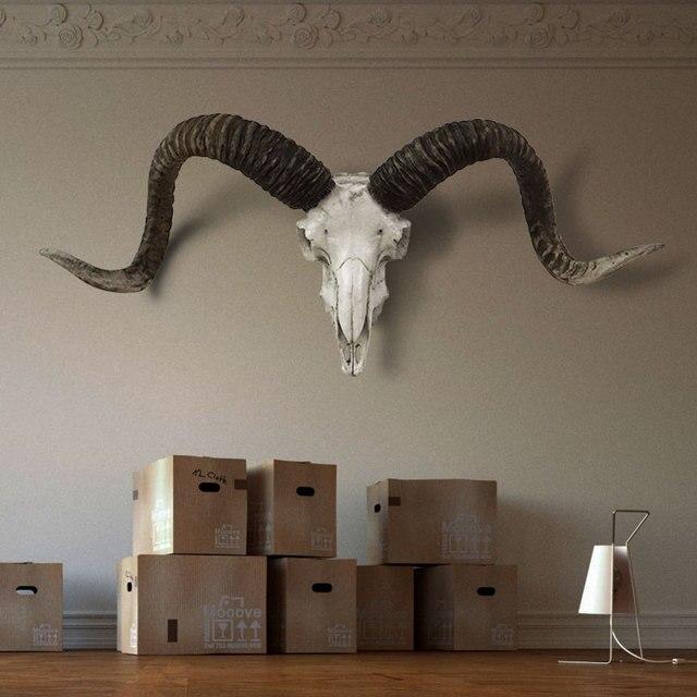 Bon Goat Skull Home Decor Resin Cabochon Home Decoration Accessories