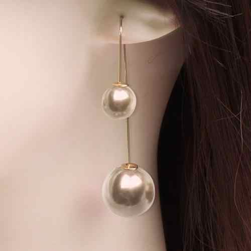 U-Shaped Double Sided Pendientes Mujer Faux Pearl Ball Drop Earring Dangle Earrings for Women Bijou Party Jewelry Brincos 2018