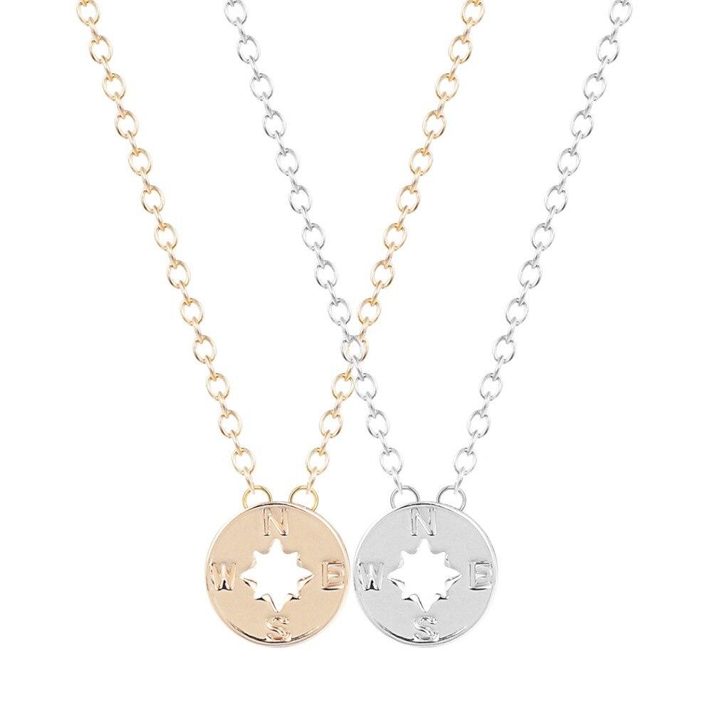Qiamni новые ювелирные кулон 10 шт. оптовая продажа простой Компасы Цепочки и ожерелья подарок для Для женщин и Обувь для девочек