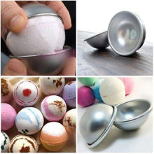 Brand New Bath Bombs Metal Aluminum Alloy Bath Bomb Mold 3D Ball Sphere Shape DIY Bathing Tool Accessories Creative Mold(China)