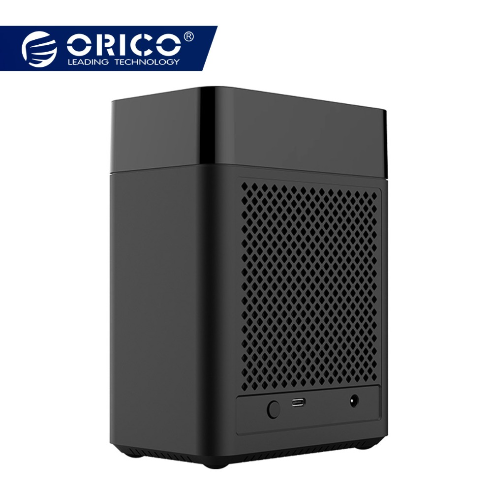ORICO Double Bay Magnétique-type 3.5 pouces Type-C Dur Boîtier de Disque USB3.1 Gen1 5 Gbps HDD Cas support UASP 12V4A Puissance MAX 20 TB