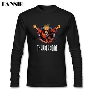 Image 1 - גברים חולצה O צוואר ארוך שרוול כותנה Thunderdome מוסיקה באיכות גבוהה T חולצה לגברים