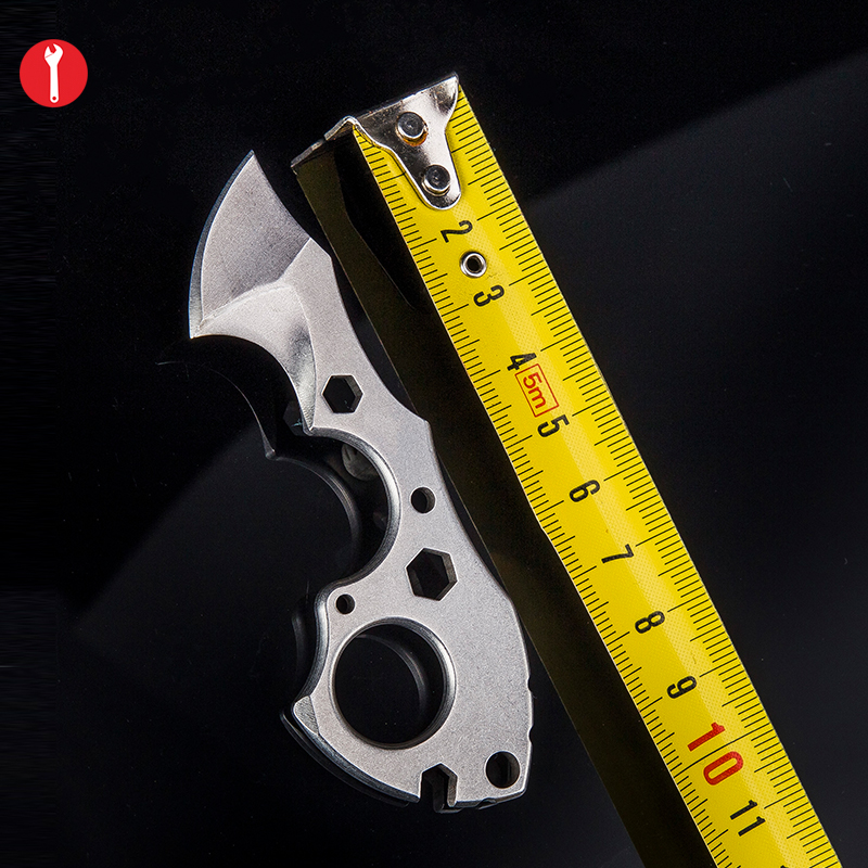 Multi Functional Keychain Pocket Finger EDC Tools with Wrench Scraper for Camping and Opening Box