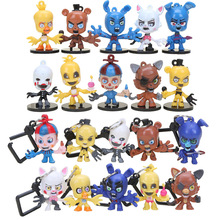 10Pcs/SET fnaf 5 Five Nights With Freddie Five Night At Freddy Game Bear Foxy Bonnie Chica Mangle Figures Toy for Boys
