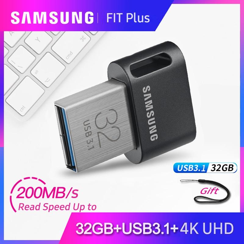100% Original Samsung Pendrive USB 3.1 GB 64 32GB até 200 MB/Memória flash Drive usb 128GB memory stick usb de 256GB até 300 MB/s