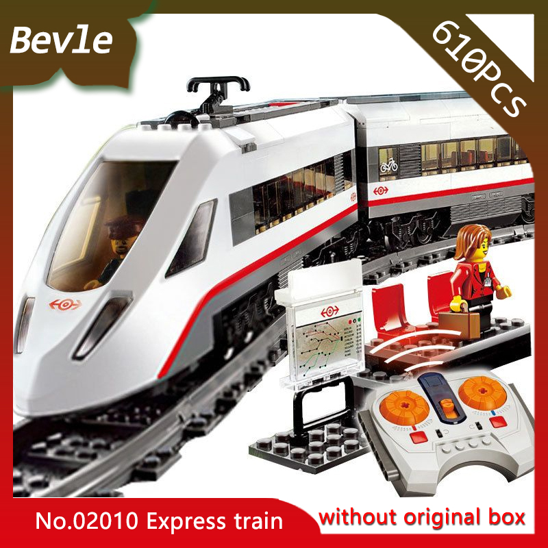 Bevle Store LEPIN 02010 610Pcs CITY Series Electric Motor High Speed Train Building set Bricks Blocks Children Toys Gift 60051 hot sembo block compatible lepin architecture city building blocks led light bricks apple flagship store toys for children gift