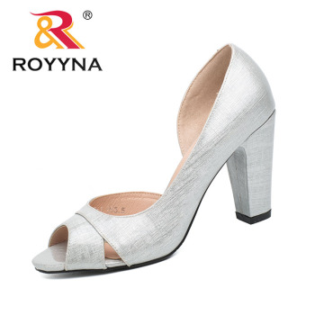 ROYYNA New Style Women Pumps Shallow Women Shoes High Heels Lady Wedding Shoes Comfortable Light  Size 5.5-8.5 Free Shipping