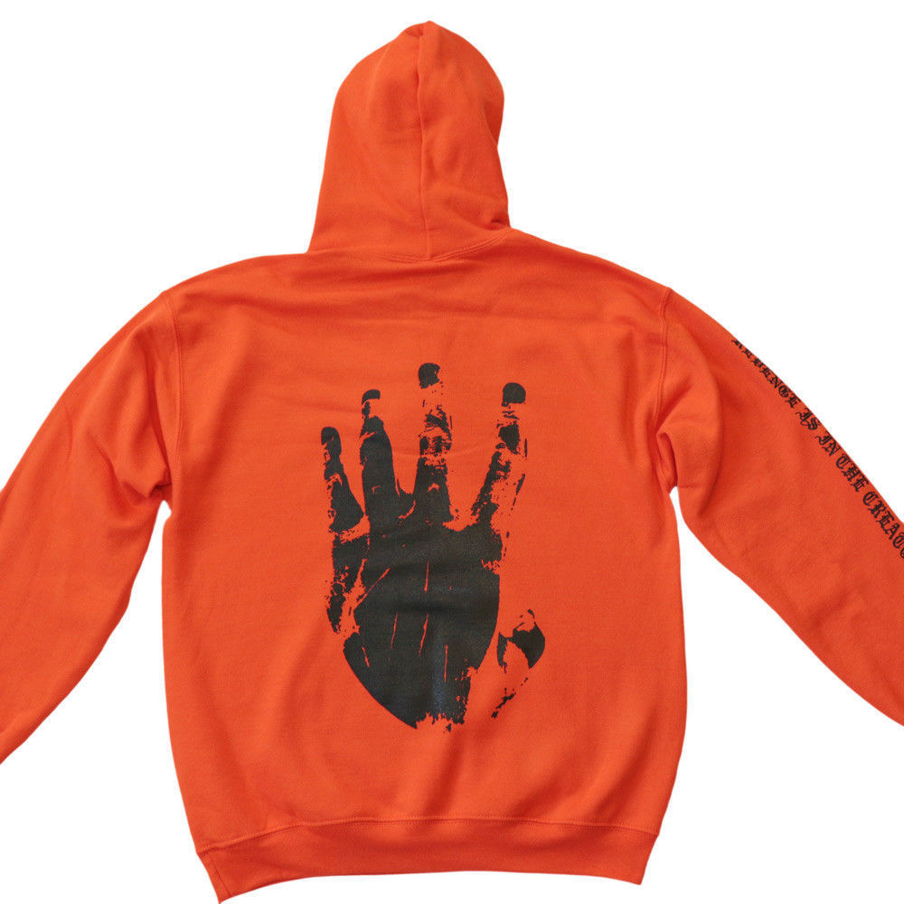Revenge Xxxtentacion Kill Mens Sweat Hoodie Sweatshirt Orange Black #5