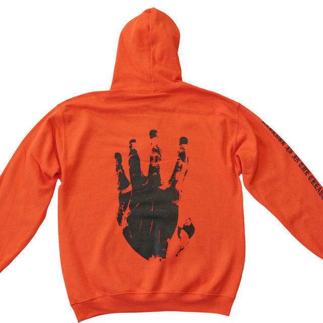 Revenge XXXTentacion Kill MENS Sweat Hoodie Sweatshirt Orange Black