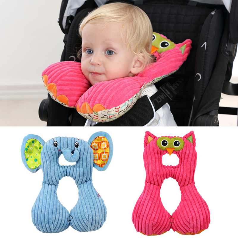 Cartoon Animal U-shaped Pillow Stroller Accessories Newborn Baby Shaping Pillow Infant Car Sleeping Headrest Neck Protection Rapid Heat Dissipation