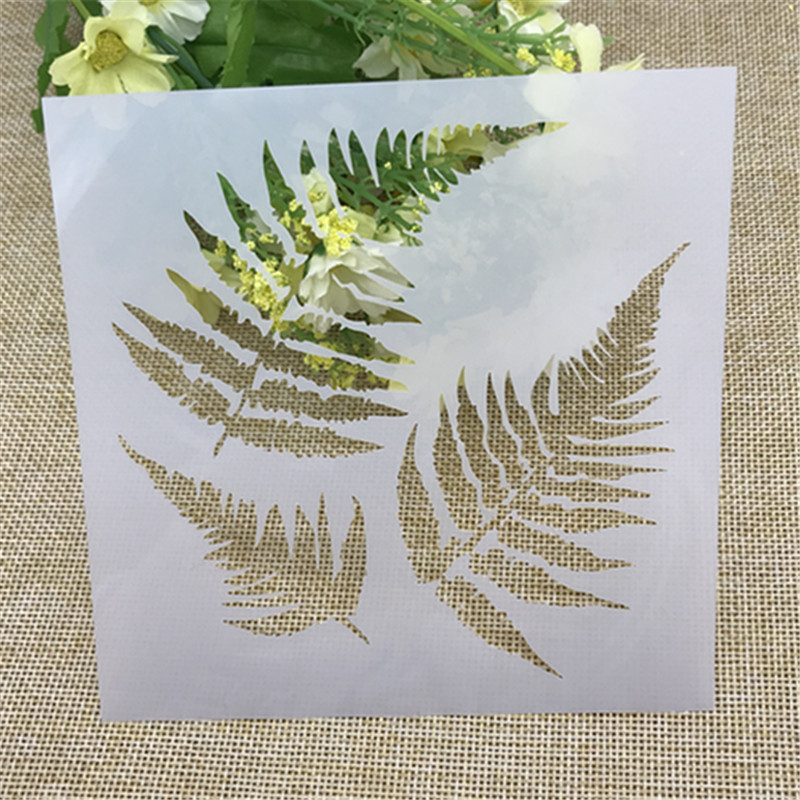 Stencils Paper-Cards Decorative Embossing Maple-Leaves Scrapbooking/photo-Album Crafts