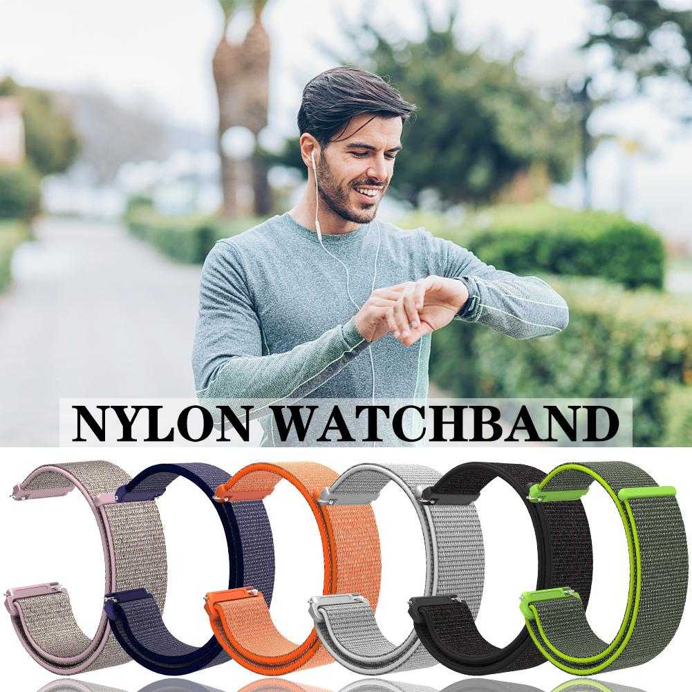 Image 2 - Nylon Loop Strap Sports Loop Nylon Watchband Breathable Absorbent Sweat absorbent For Pebble Time 1 2 Generation-in Smart Accessories from Consumer Electronics