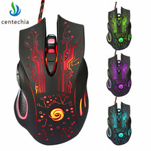 Centechia 2018 New Original Gamer Mice computer mouse Gaming Mouse 3200 DPI 6 Buttons LED Optical USB Wired Mouse For Pro Gamer