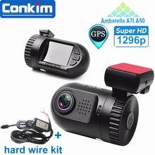 Оригинальный Мини 0805 Full HD Видео Рекордер Камеры Автомобиля DVR Ambarella A7LA50 1080 P 1296 P HDR SOS + GPS g-сенсор ADAS ж/Жесткий Провод Комплект