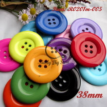 100pcs 38mm 4 holes Colorful resin coat buttons large fashion buttons clothing accessories diy craft accessories wholesale