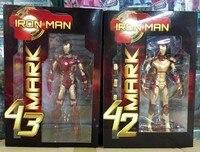Marvel The Avengers Stark Iron Man 3 Mark VII MK 42 43 PVC Action Figure Collectible