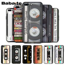 Babaite Original Retro Cassette Tape Newly Arrived Black Cell Phone Case for iPhone X XS MAX 6 6S 7 7plus 8 8Plus 5 5S XR