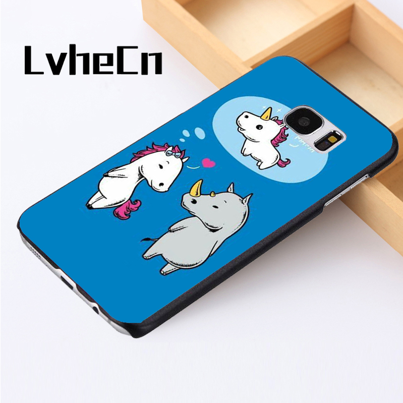 LvheCn phone case cover For Samsung Galaxy S3 S4 S5 mini S6 S7 S8 edge plus Note2 3 4 5 7 8 Unicorn Funny Rhino Joke Horse Pony