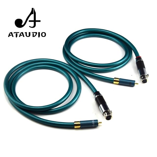 ATAUDIO 1 pair Ortofon Hifi XLR Female to RCA Male Cable High Purity ...