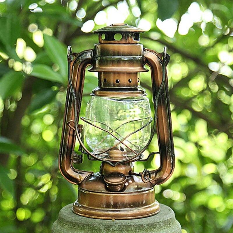 Retro Stile di Illuminazione Portatile Lampada a Cherosene Del Metallo Luce di Campeggio di Campeggio Esterna Della Tenda Della Lampada di Emergenza Domestica Lampada