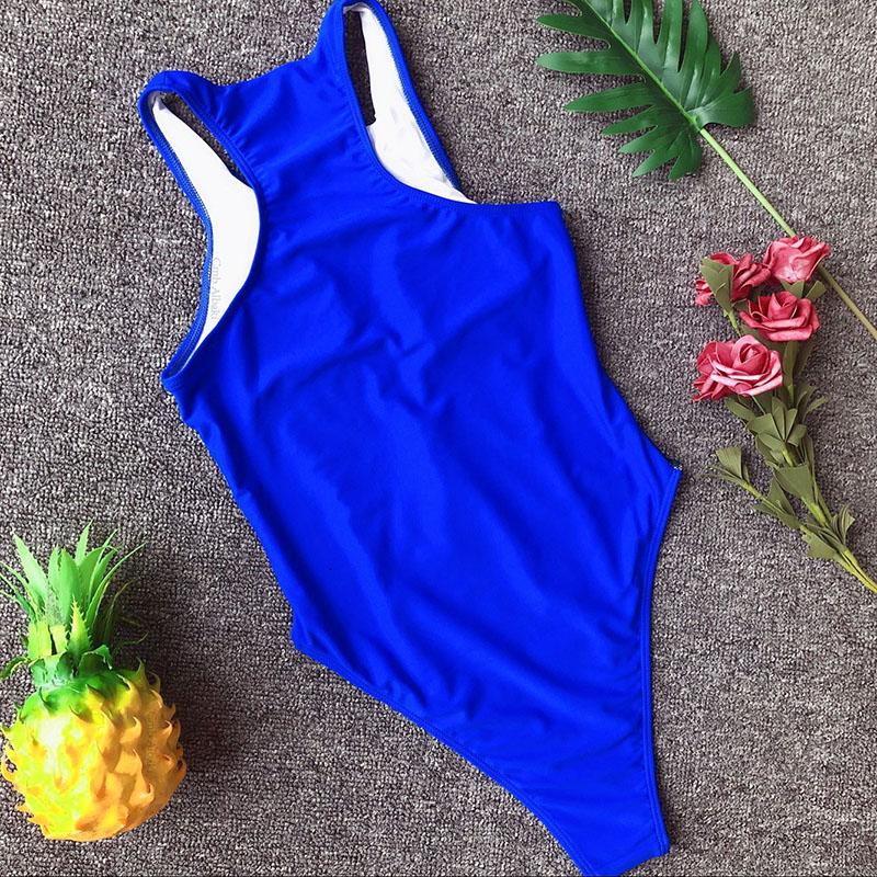 INGAGA, сексуальный цельный купальник на молнии, полосатый купальник, женская одежда для плавания с открытой спиной, монокини, спортивный купа... 53