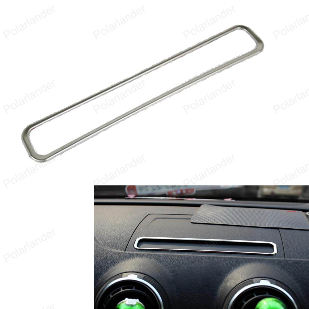 Car styling decorative Frame Stainless Steel Navigation Screen panel cover trim for Audi A3 Hatchback Sedan