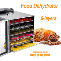 NEW LT 01 Fruit Drying Machine 6 Layers Stainless steel Food Dehydrator Home Electric Fruit Vegetable Meat Herbs Food Dryer 220V Dehydrators Home Appliances -