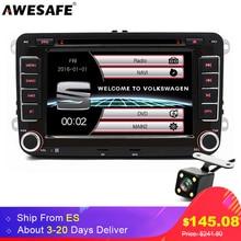 AWESAFE 7″ 2 Din Car DVD Radio Player for Volkswagen VW Golf 6 Touran Passat B7 GPS Bluetooth Autoradio Polo Tiguan