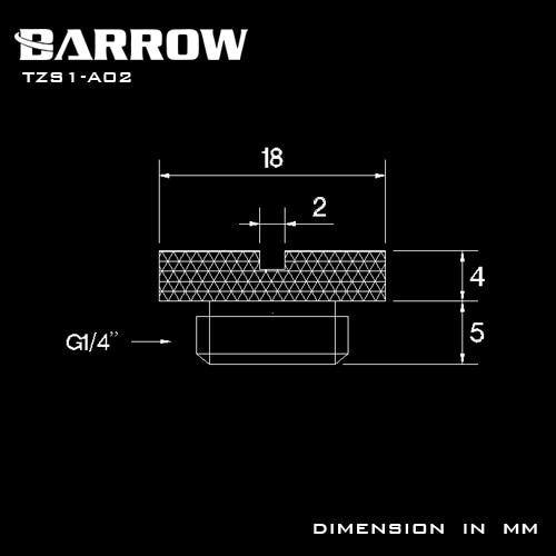 Купить с кэшбэком Barrow G1/4'' Plug Brass Sealing Lock Cooler Plug use Coin to Manual Tightening Computer Water Cooling Accessories Fitting