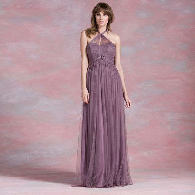 bac6a87c27985 Convertible Dresses Empire Tulle Long Pregnant Bridesmaid Dresses Many  Style Multiway Elegant Girl Wedding Party Dresses
