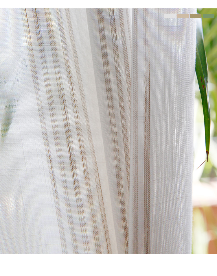 _05 White Tulle Curtains For Livingroom Striped Voile