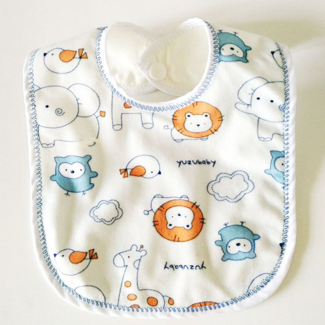 1Pc Baby Water-proof Bibs Boys Girls Babador Bandana Double Layer Cotton Saliva Towel Feeding Accessories Newborns Burp Cloths