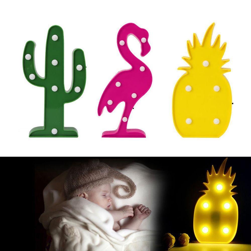 Luzes da Noite flamingo cactus abacaxi lâmpada noite Potência : 0-5 w