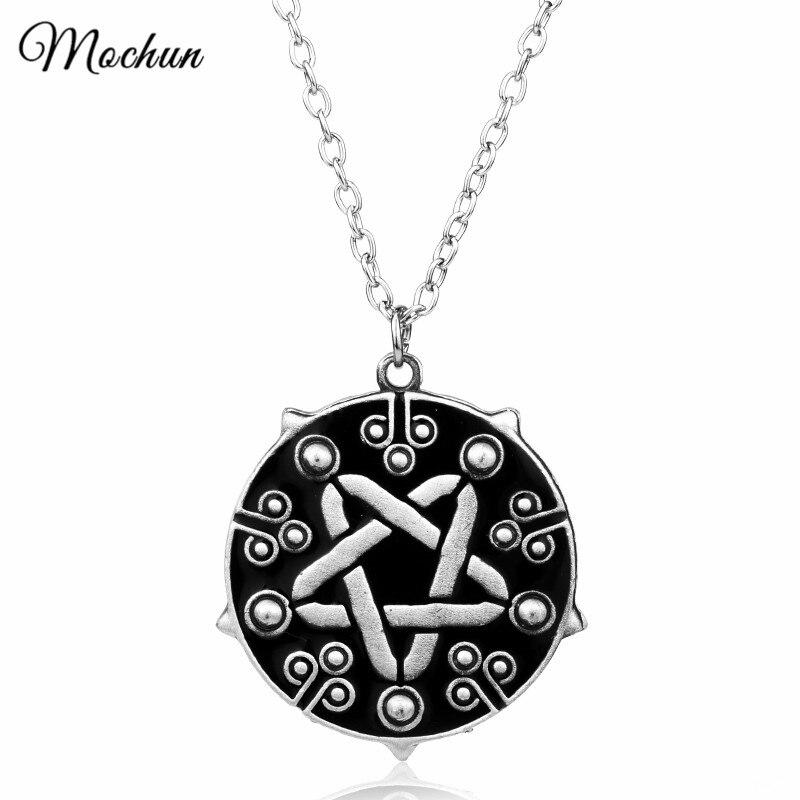MQCHUN Witcher 3 Yennefer Medallion Link láncszállító nyaklánc a vad vadászat játék Cosplay ékszer gótikus ezüst színű medál