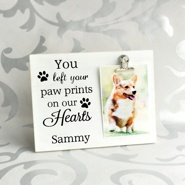 Custom Dog Memorial Frame Pet Loss Frame, Personalized Pet Picture ...