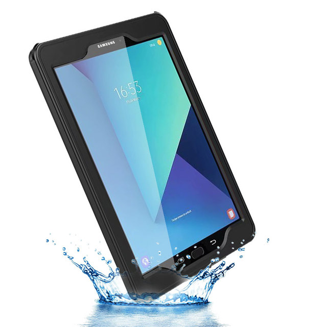 best service db04d c8df6 US $35.0 |waterproof case for Samsung Galaxy Tab S3 9.7 inch SM T820 life  water shock proof ip68 Rugged silicone Transparent Tablet Cover-in Tablets  & ...
